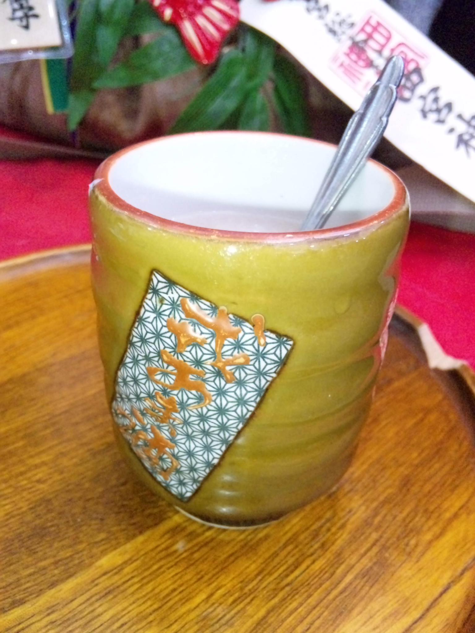 えべっさん名物、おたふく茶屋の甘酒
